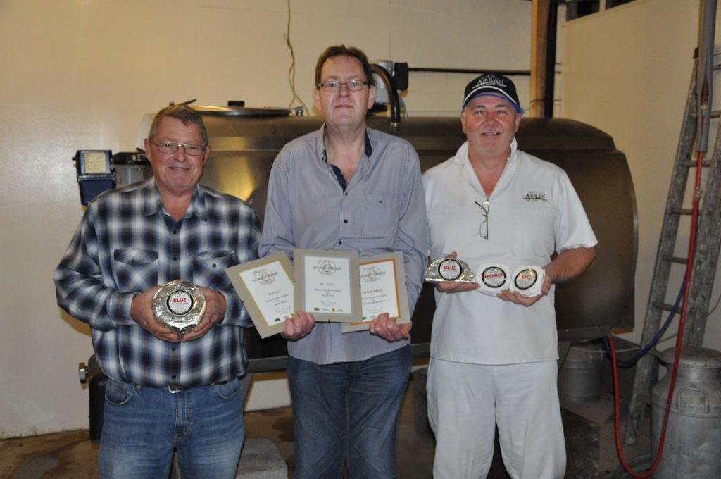 JANUARY. Arran Cheese Shop's Gordon Kinniburgh and Bellevue Creamery's dairy manager Calum Chaplin, along with cheese technician William McNally, repeated their success from last year by winning the Best Scottish Cheese Award.