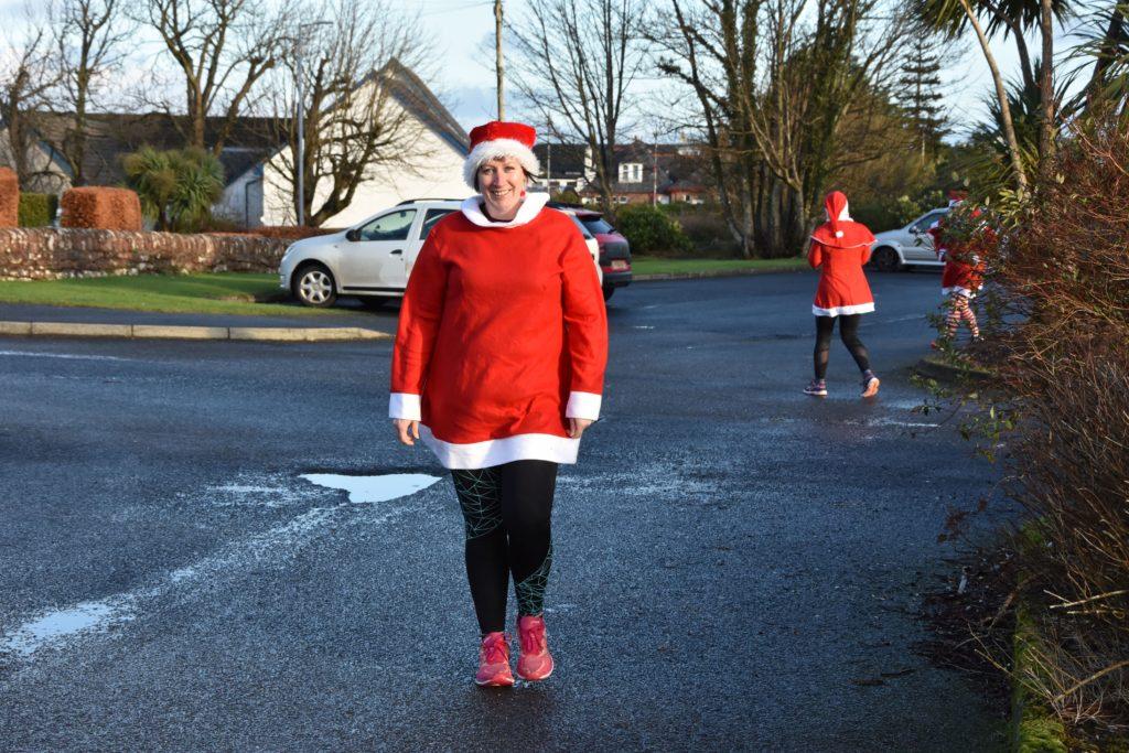 JogScotland coach Lorna Logan arrives for the run.