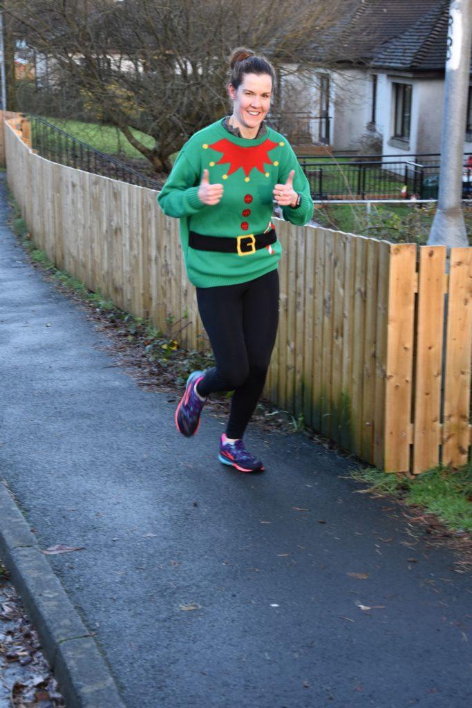 Julie McGhee looks relaxed during her run.