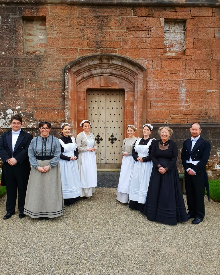 APRIL. Brodick Castle guides welcome visitors to the island attraction after a two year break which saw major renovations and a redesign taking place.