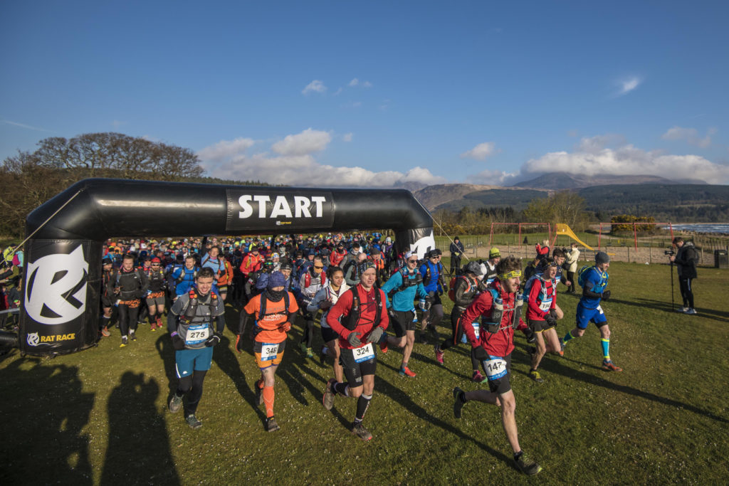 APRIL. More than 500 runners set off from Brodick beach on the first day of the Rat Race Ultra Tour which covers 100km over two days.