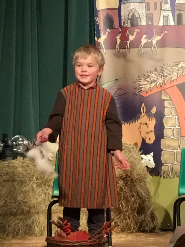 A shepherd recites his lines.