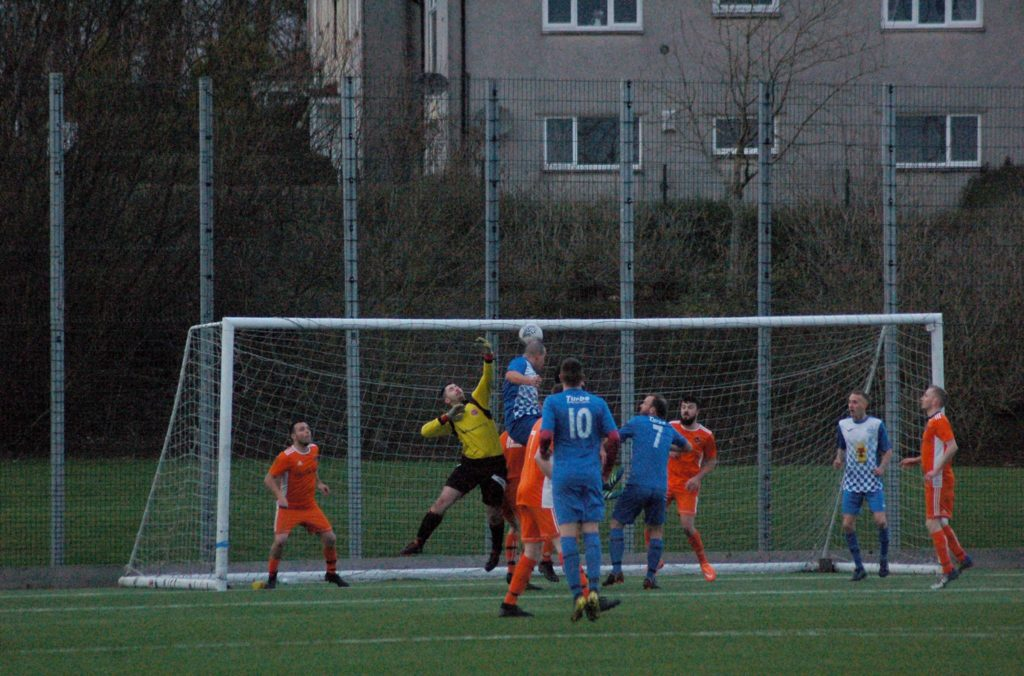 Killie bounce back with this header narrowly crossing the line to give them a lifeline back into the game.