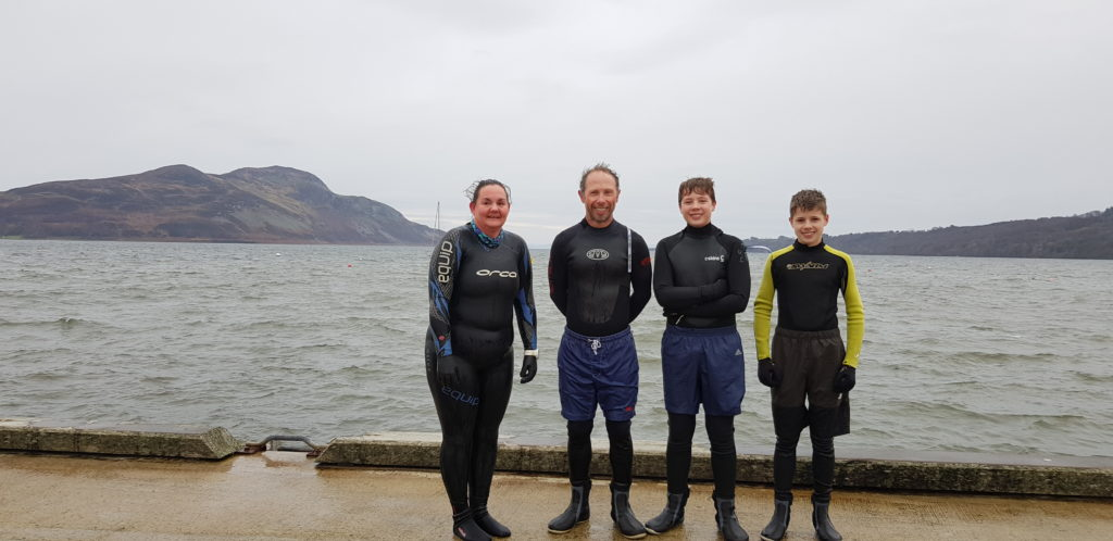 Georgina Lepley Maclean and Darren, Sid and Jesse Townsend also did a dook on Boxing day.