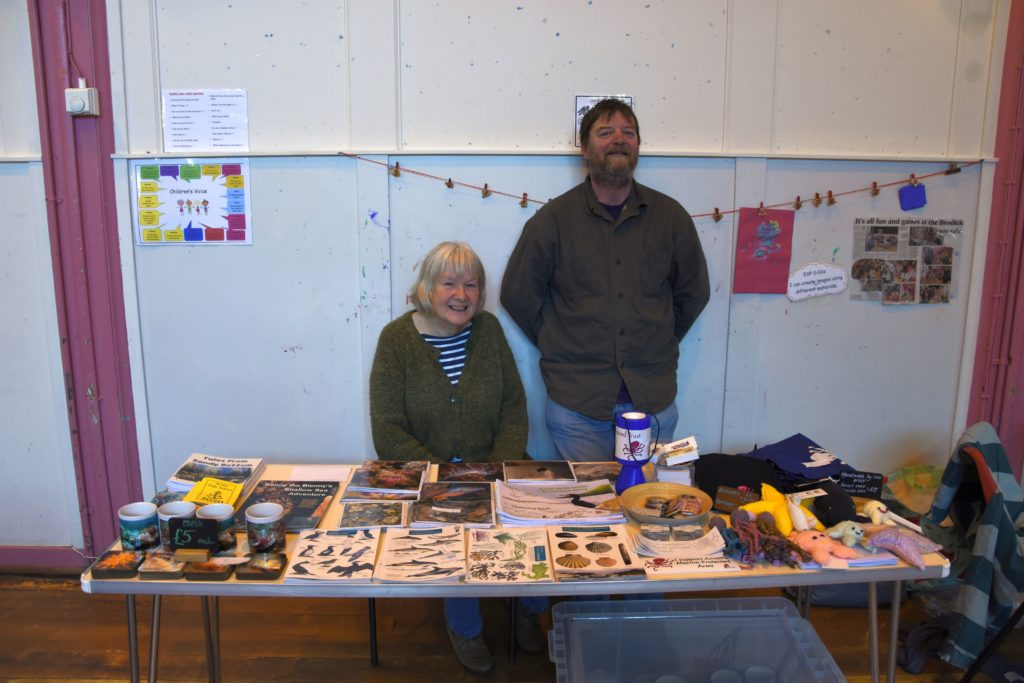 Volunteers Cheryl and Nick Burgess welcomed the visitors and assisted with the coffee morning.