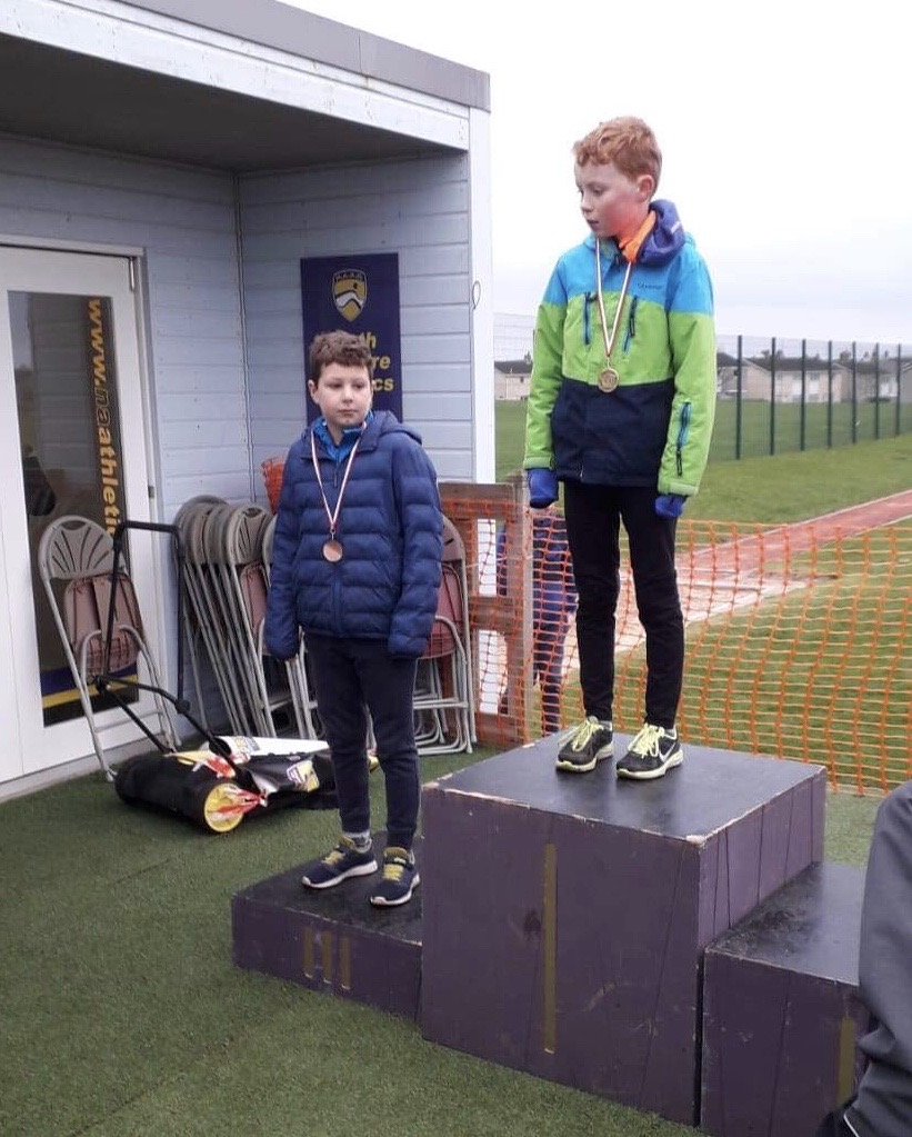 Freddie Lucas (left) claimed the bronze medal in the P5 boys race.