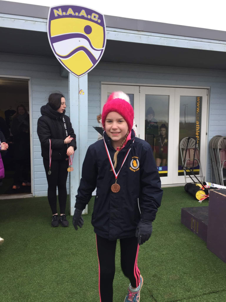 Grace Popplewell took home the bronze medal in the P6 girls race.