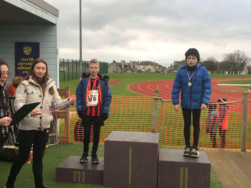 Jake Early took second place with Ewan Southwhick coming third in the P6 boys race.