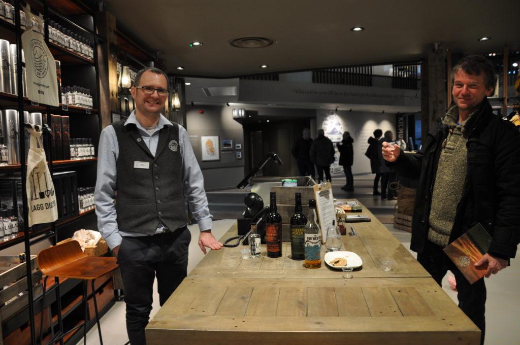 Miller Crawford, left, provided whisky tasting for David Lydon.
