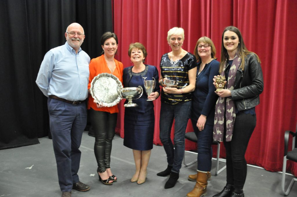 Shiskine SWI were the biggest winners at the 2016 one act drama festival lifting four trophies including the top prize for their two handed play Daisy Markham.