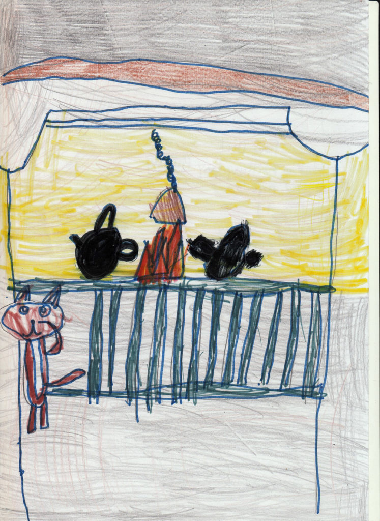 Fiona Dick of Whiting Bay Primary impressed judges with her detailed drawing.