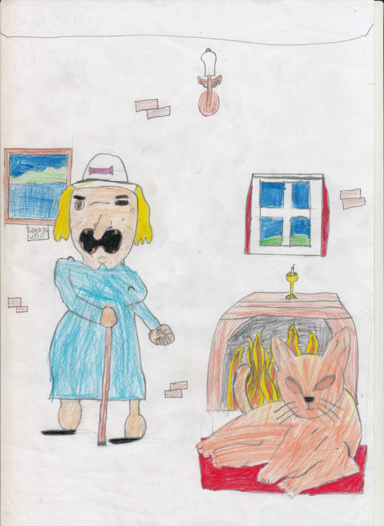P6 pupil James Hackett of Whiting Bay Primary impressed judges with his detailed drawing.