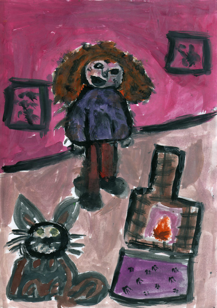 P5 pupil at Whiting Bay, Freddie Lucas was shortlisted for this impressive painting.