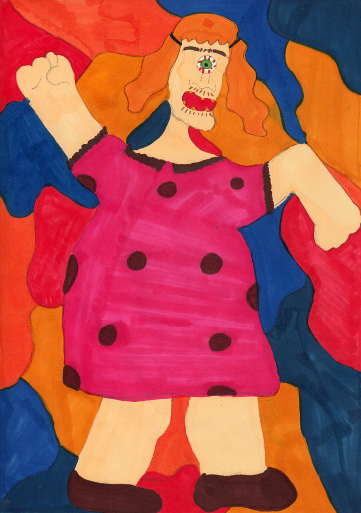 Lamlash Primary pupil Niamh Gosman used bright and bold colours for her entry.