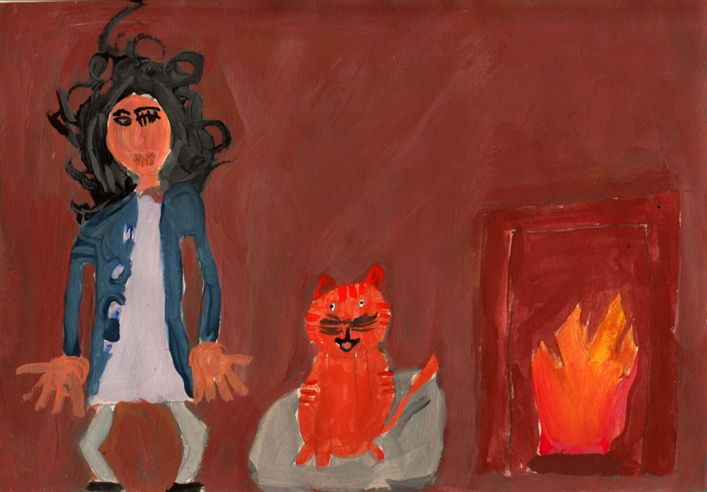 Rhea Webster of Shiskine Primary was a worthy contender with her beautifully painted entry.