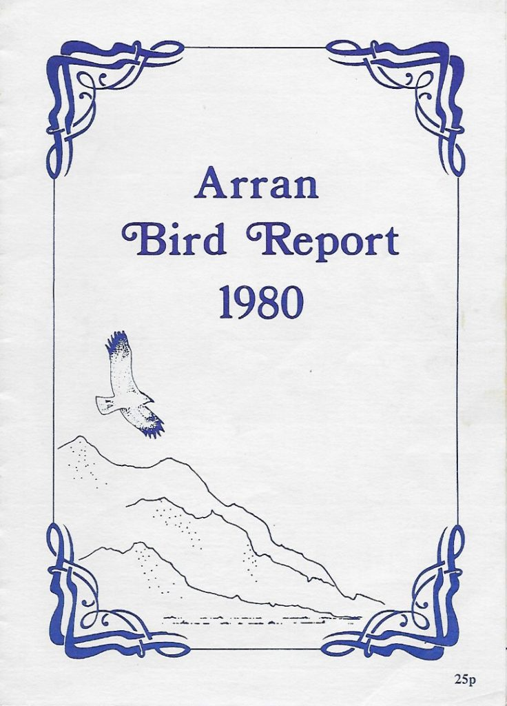 The cover of the very first Arran Bird Report.