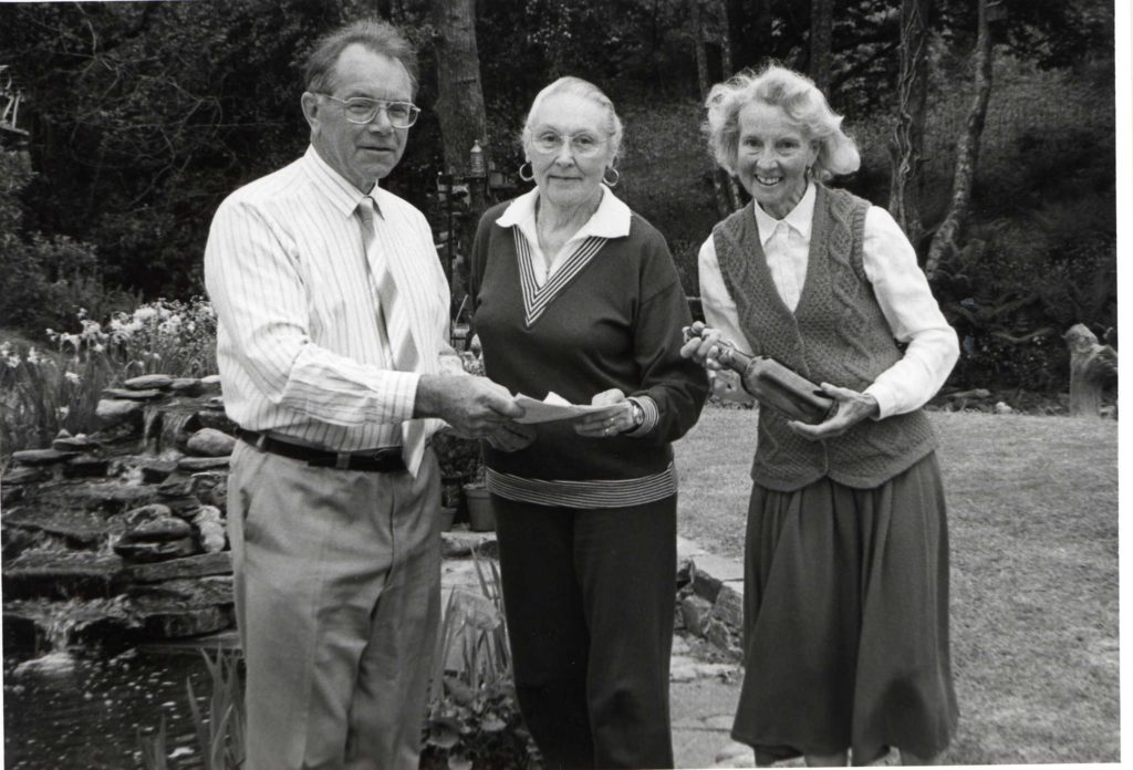 Ruth and Alan Thompson with Frances Sanctuary, centre, with their milestone find.