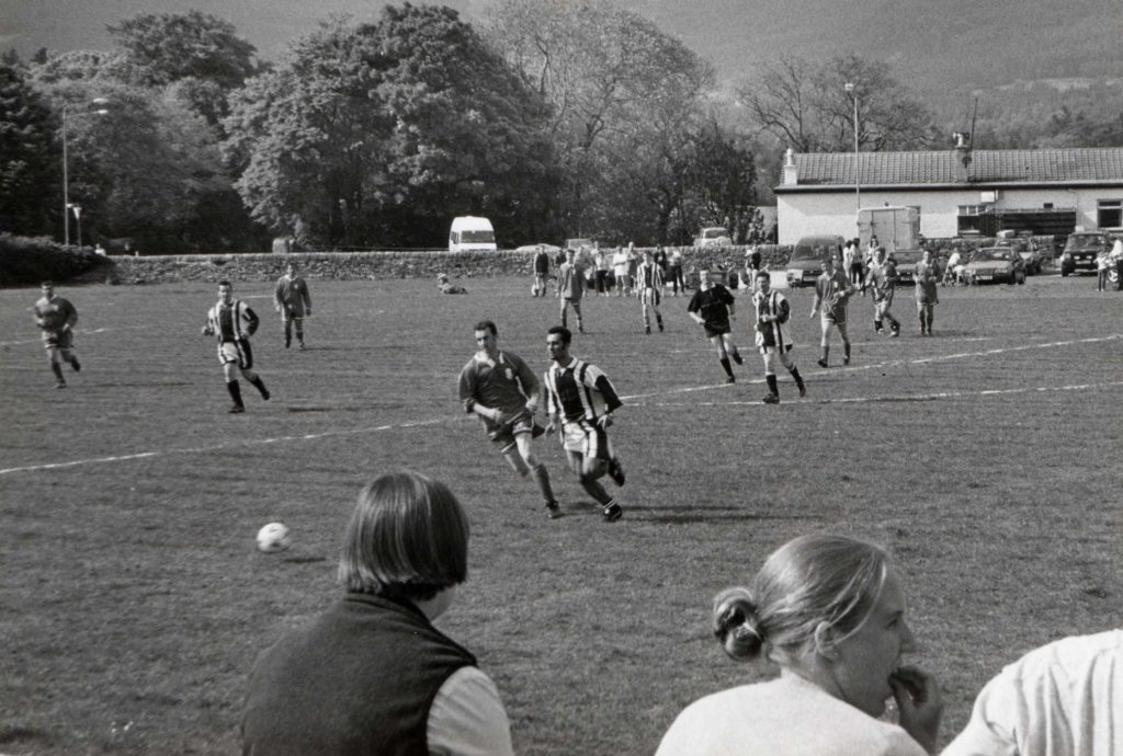 Action from the final of the Arran Haulage Cup on Saturday where Lamlash beat Shiskine 3-1 in front of a decent crowd at Ormidale Park.