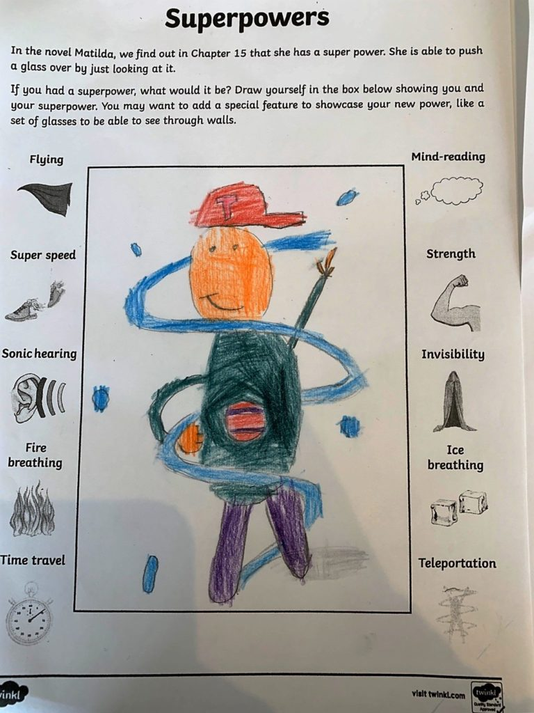 A Brodick pupil invents a superpower.