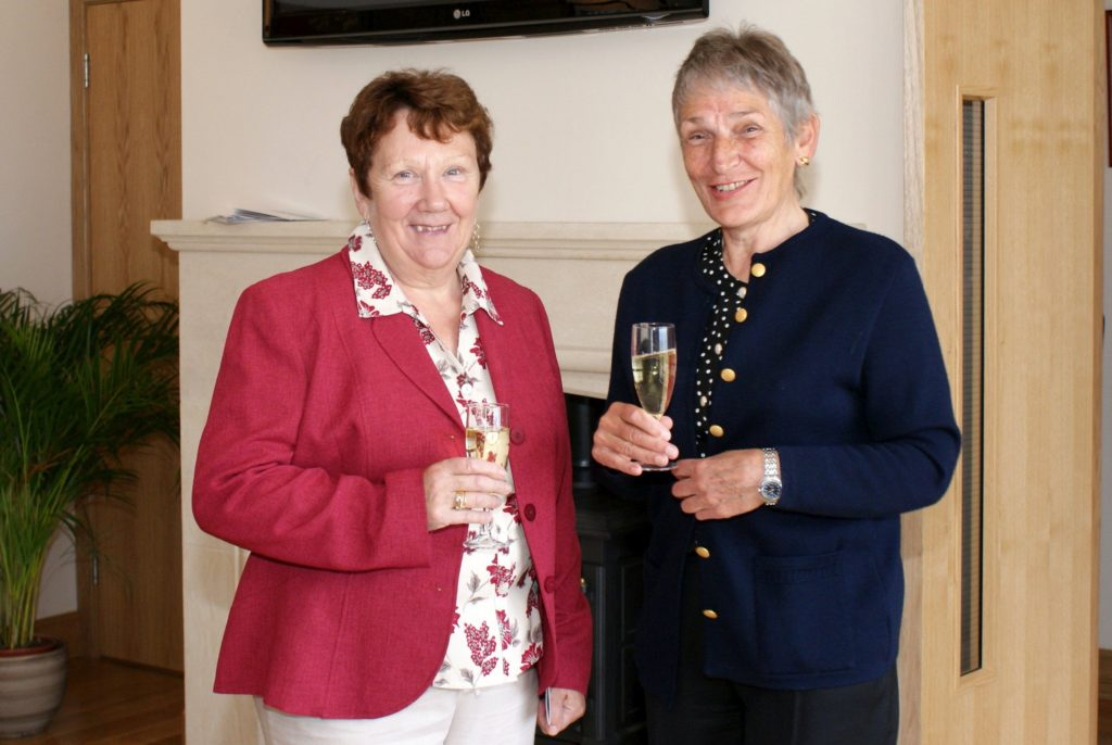 Mary Tod and Viv Parks who are still involved with the club today.