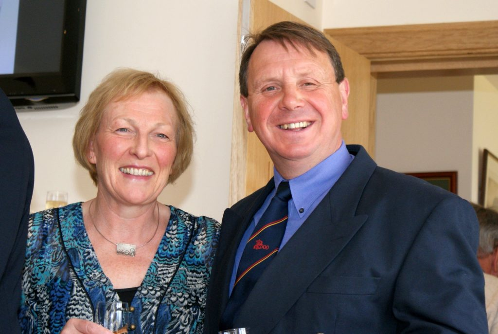 A smiling Elizabeth and Joe Faulkner at the official opening.