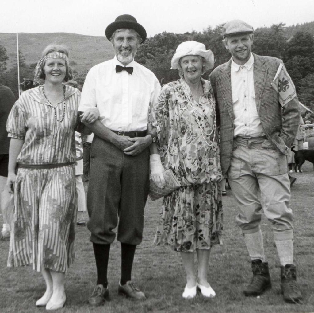 Iain and Sandra McMillan, Suzanna Talbot and Alastair Paul show their sartorial elegance.