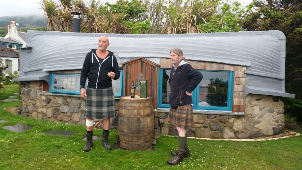 Davy and Fraser started and ended the walk with a dram at the Boathouse.