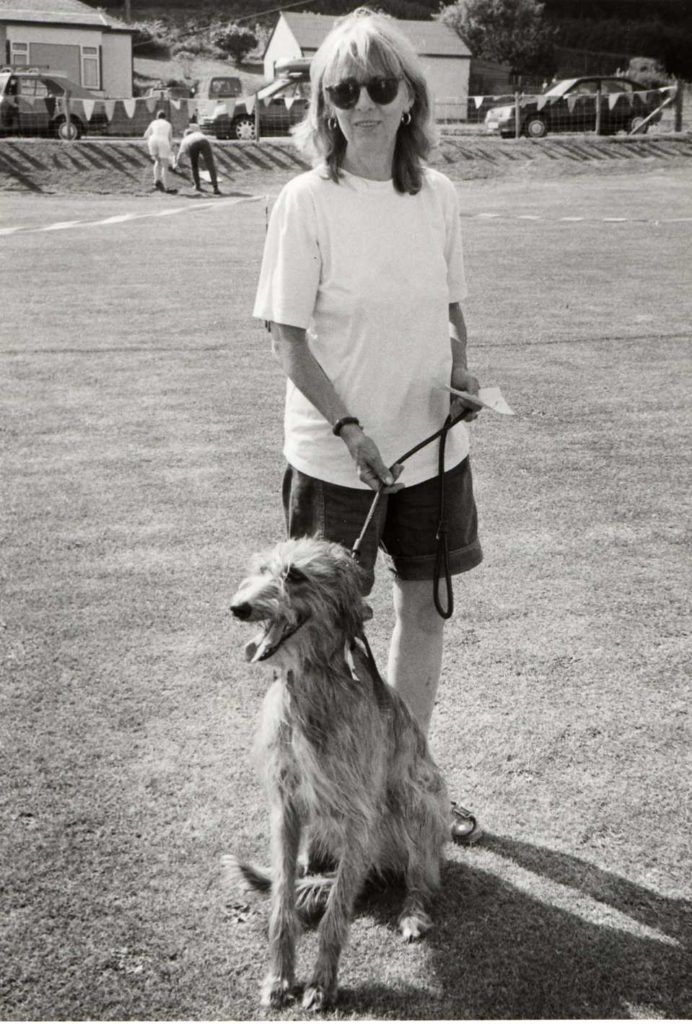 Overall winner of the dog show was Mouse with owner Sandy McGovern.