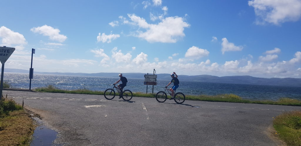 The duo heading into Blackwaterfoot.