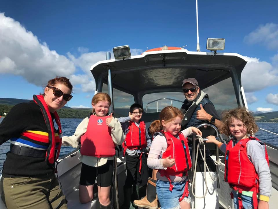 Youngsters ready for a trip out to sea.