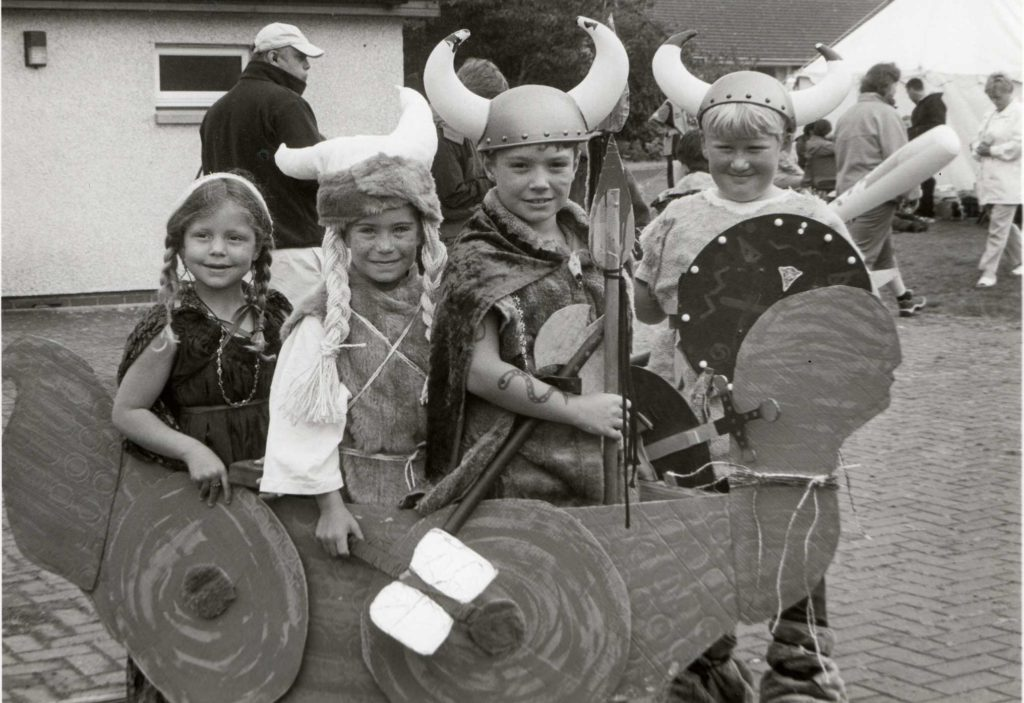 A Viking Raid on the fancy dress competition at the Highland games.