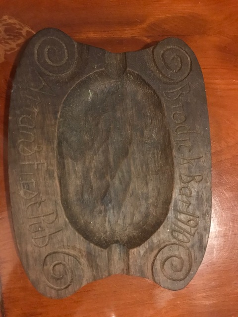 The ashtray which was given to all customers on the opening day 50 years ago.