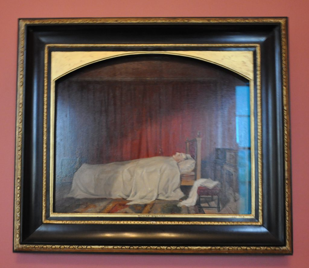 The famous painting of William Beckford on his deathbed is part of the collection at Brodick Castle.