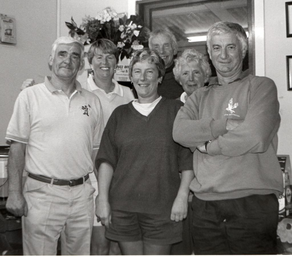 The winners and runners-up of the Lochranza Open which was contested by 44 players on Sunday.