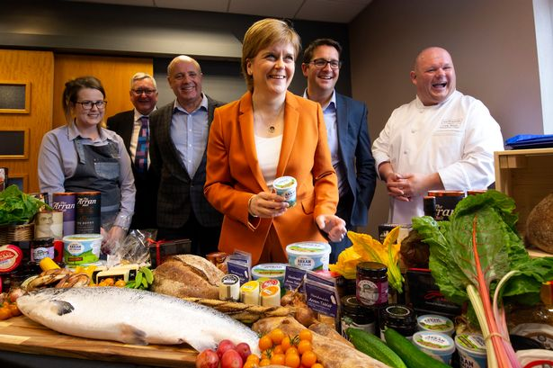 First Minister Nicola Sturgeon during a cabinet visit to Arran where delegates learned about the food and drink offerings from the island.