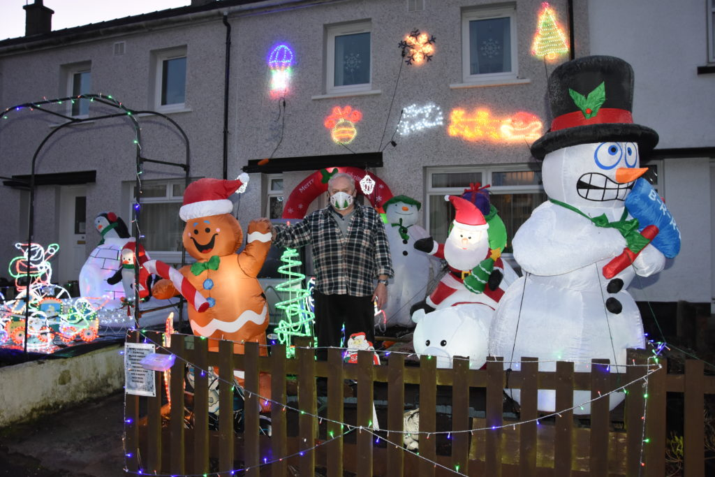 DECEMBER: It would not have been Christmas without a mention of Bernie Jackson's Christmas lights in Whiting Bay. They are a regular feature in Montrose Terrace every year and help to raise charity cash. 01_B50lights01