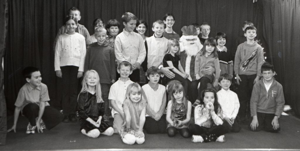 The whole of Pirnmill primary school during their concert last Friday.