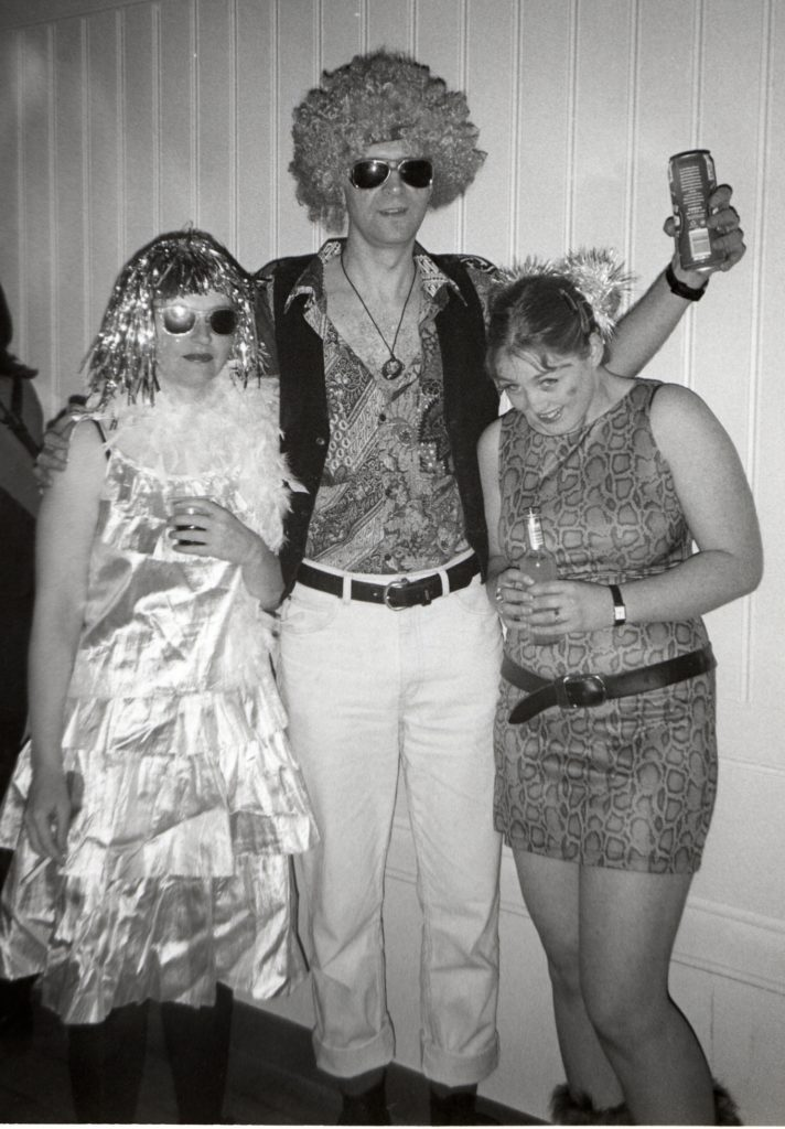 The 1970s returned to Brodick Hall on Satrurday night when group Wig Wam Bam played to enthusiastic revellers who joined in the fun by digging out some appropriate clothing..