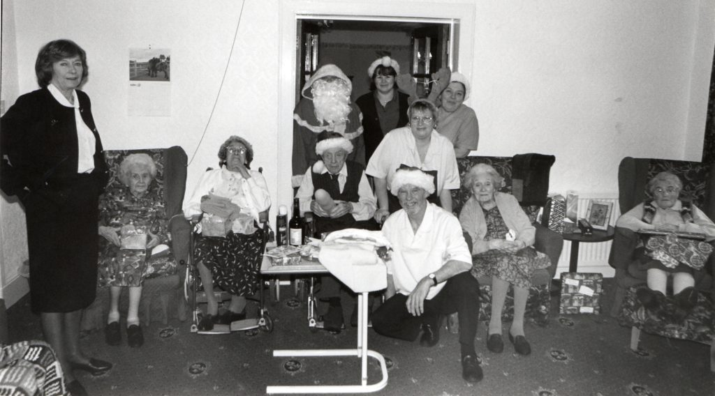 Santa popped in to Corriedoon nursing home on Christmas Day where Celia Butler and staff introduced him to residents, from left, Margaret Irving, Ella Tyndal, Adam McNeice, Elizabeth Murchie and Betty Crawford.