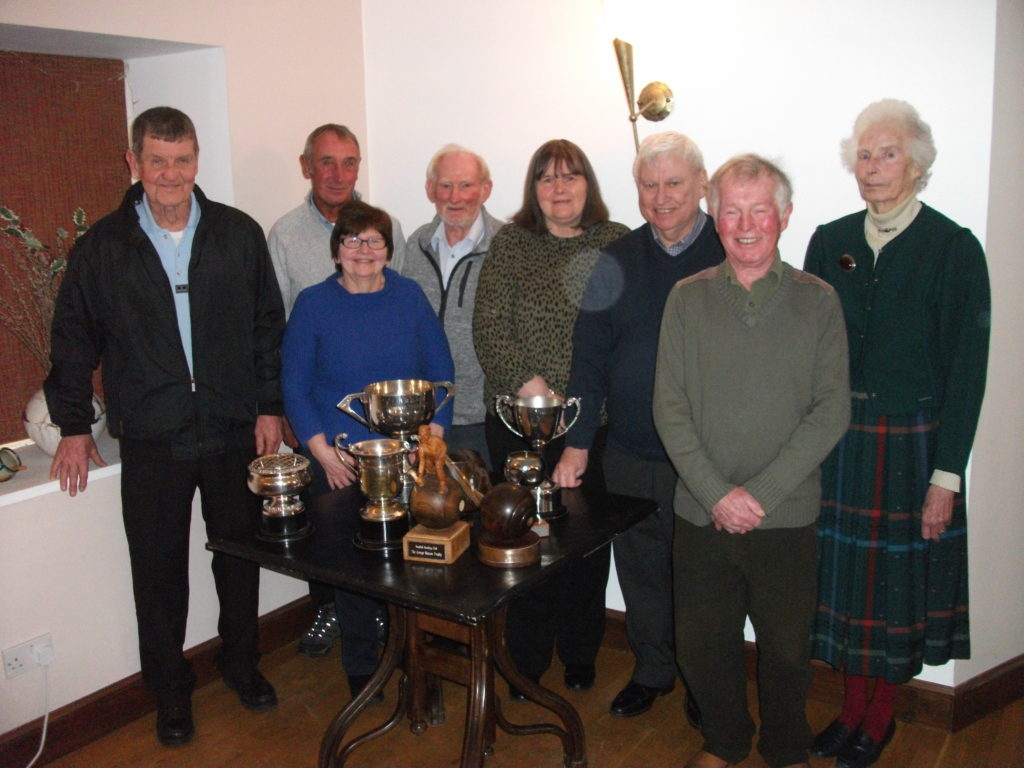 MARCH: Prize-winners at the annual lunch and presentation of prizes for members of the Brodick Bowling Club.