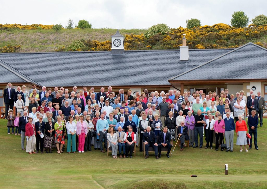 MAY: Shiskine Golf and Tennis Club celebrated the 10th anniversary of their clubhouse. Pictured are all of the guests at the official opening on Saturday May 29, 2010.