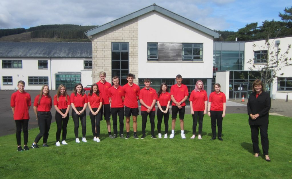 SEPTEMBER: The new prefects at Arran High School for the 2020/2021 session with acting head teacher Mrs Susan Foster.
