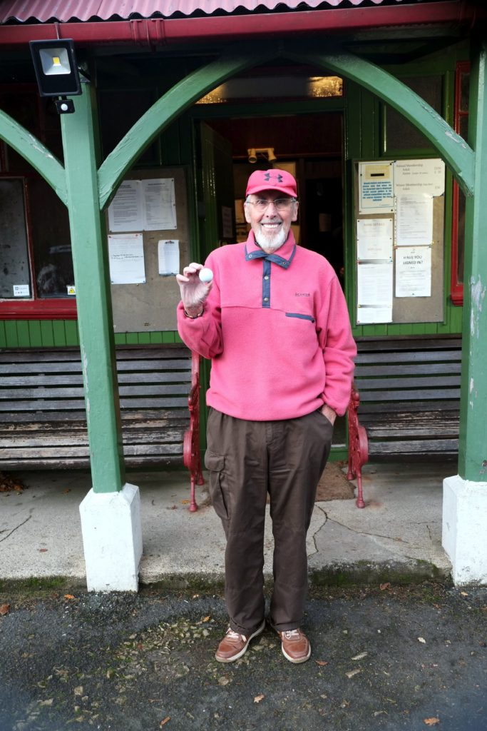 DECEMBER: Ian McMillan beat the odds and scored a hole in one at the first hole at Corrie golf course.