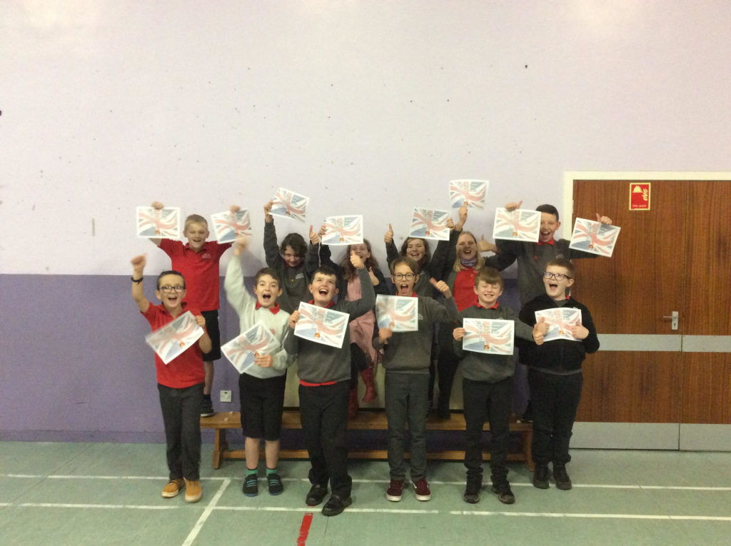 DECEMBER: Lamlash Primary School pupils celebrate after a remarkable performance in the North Ayrshire 'Sumdog' maths contest.