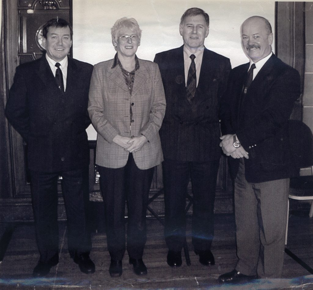 Pictured after the AGM of the Ayrshire and Arran Tourist Board last month are the new Arran trade sector directors who will represent the different areas of the tourist industry on the island. Left to right they are: Alastair Bulsland from Brodick mini golf, Fiona Crawford from Shiskine Golf and Tennis Club, Ken Thorburn from Brodick Castle and Board chairman Ronnie Mann.