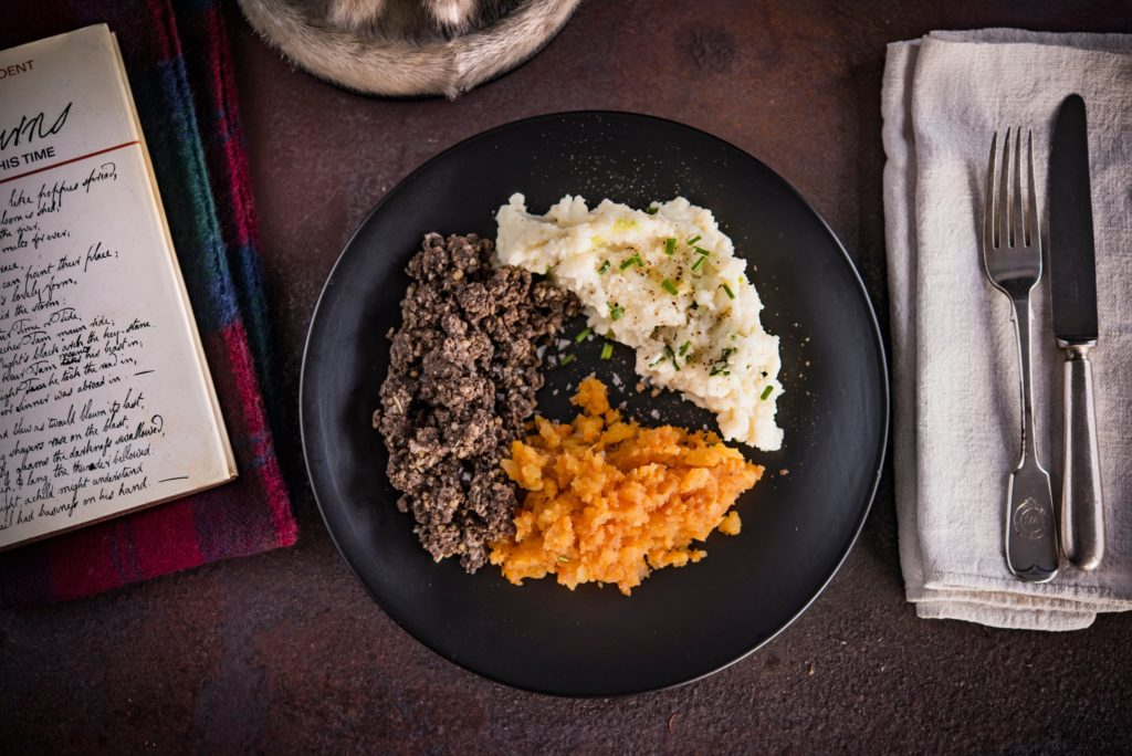 It would not be Burns Night without a meal of haggis, neeps and tatties.