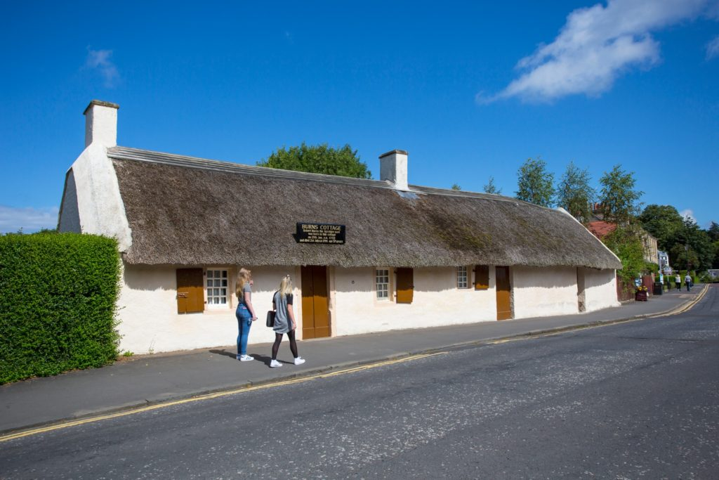 Burns Cottage - The birthplace in 1759 of the poet Robert Burns and now museum in Alloway