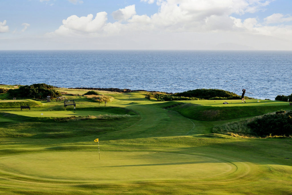 The course has a spectacular seafront location.