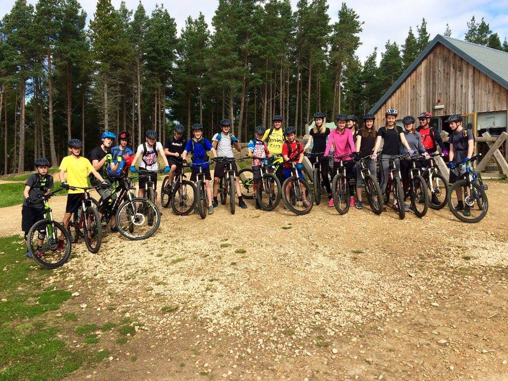 A pre Covid-19 meeting of the Arran High School mountain bike club.