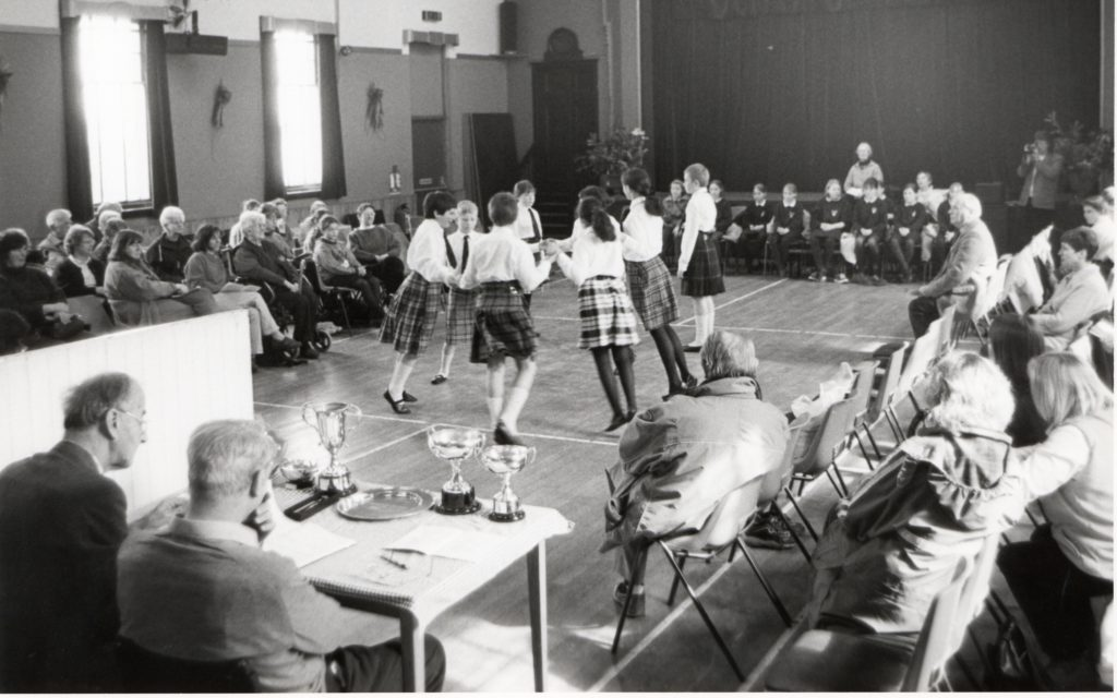 This year's Arran Music Festival began on Wednesday afternoon with the Scottish country dancing in Whiting Bay hall. Here we see Pirmill Primary School pupils taking to the floor.